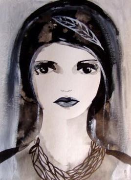 Visage femme art peinture