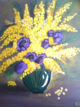 mimosas et anemones