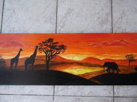 Coucher de soleil en Afrique
