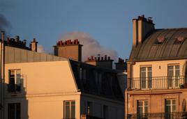Toits de Paris, soirée de printemps