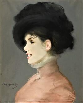 portrait d'Irma Brunner de Manet revisitée par Marilyn ..