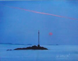 Peinture Soleil rosé