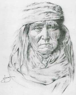 Dessin de portrait de Géronimo, par PORTRAIT éMOI
