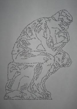 Le penseur de Rodin AGRANDIR