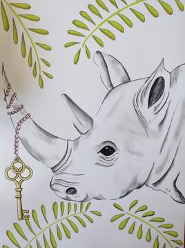 Rhinoceros et clef
