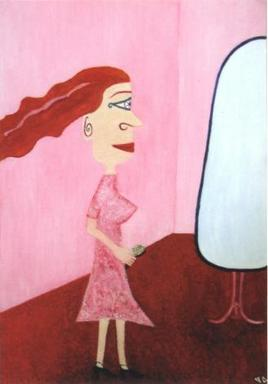 """""""Miroir reflétant l'absence"""""""