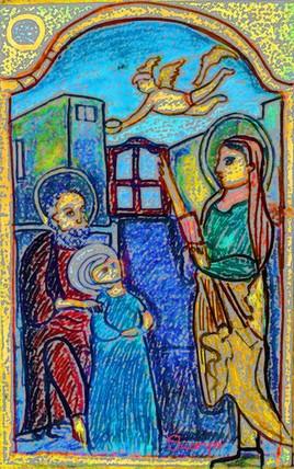 St Anne, St Joachim, couronnement de  Marie mère de Jésus