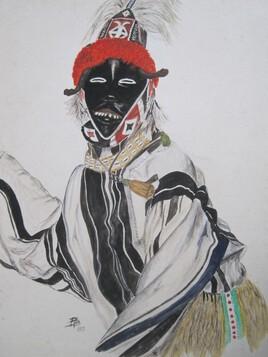 Danseur masqué Dan (Côte d'ivoire)