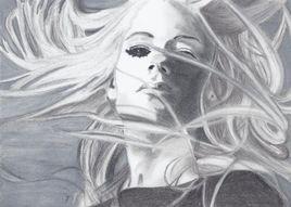 Cheveux dans l'vent