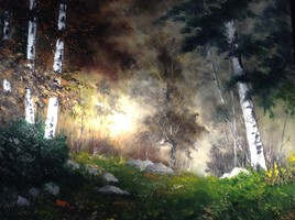 Le soir au bois