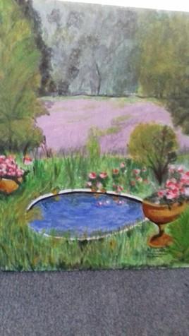 Pot de fleurs en nature