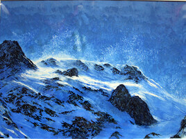 Coup de vent en montagne