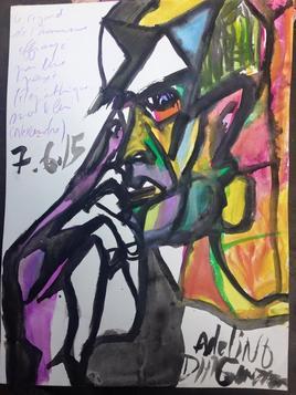 Le portrait de l'homme effrayé par une pensée télépathique