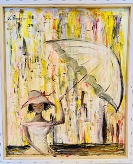 La femme à l'ombrelle...