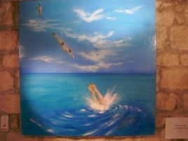 entre ciel et terre , il y a l' homme et la mer