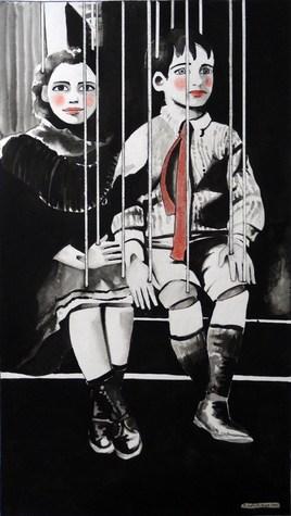 """Marionnettes """"deux enfants"""""""