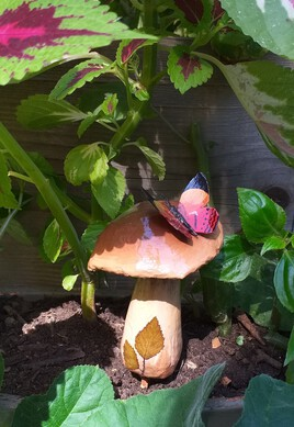 champignon déco pour plante