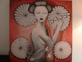 japonaise aux ombrelles