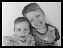 """""""Le bonheur"""" - dessin en noir et blanc"""