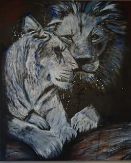 couple de lion