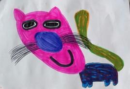 Chat déformé