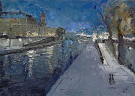 Paris, la Seine et le Quai des Orfèvres
