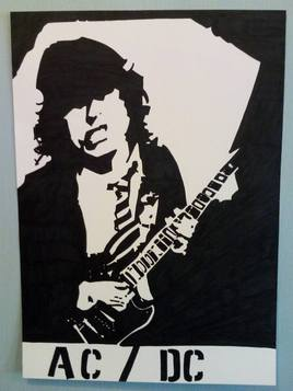 Portrait de Angus Young