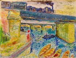 Pont d'Asnières (d'après Van Gogh)