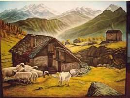 Montagne et moutons