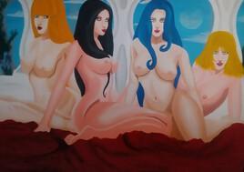Artémis, Hébé, Aphrodite et Déméter nues