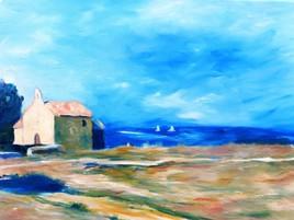 Peinture LA PLAGE DE SAINTE CROIX