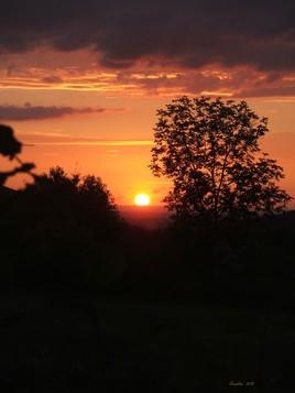 un coucher de soleil ..