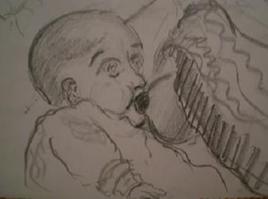 Bébé qui tête