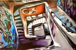 L'escalier magnifié (série Urbex)