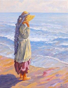 Carmen au bord de la mer