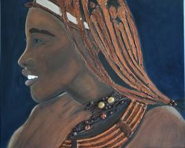 NAMIBIE / JEUNE FILLE HIMBA