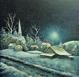 Le village tout de blanc vêtu