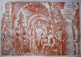 Le pacte de la trahison - Sanguine sur papier Ingres. 100 cm x 70 cm
