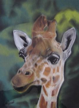 Girafe au pastel