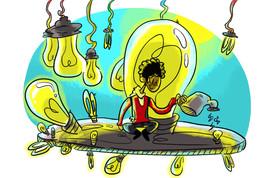 Le jardin d'ampoules de Polo