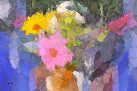 Bouquet abstrait