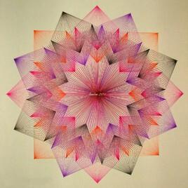 rosace étoile effet 3D..
