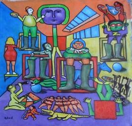atelier d'artiste a la campagne(optimisme)