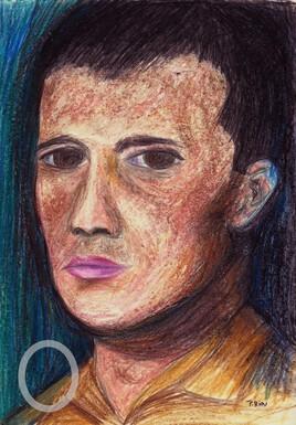 Autoportrait, jeune.