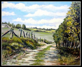 Chemin à travers la campagne