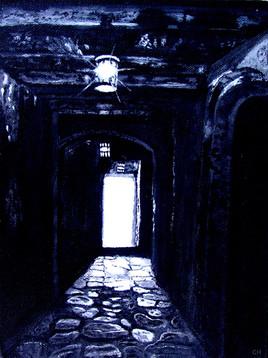 Couloir de la maison des esclaves