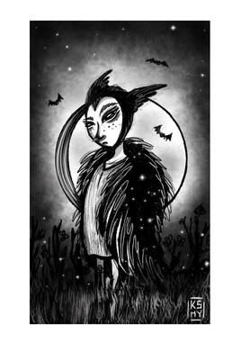 Enfant corbeau.