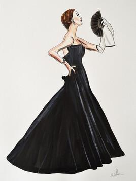Mon illustration. Une robe Christian Dior de 1949