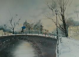 Promenade sous la neige.