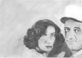 Marie Laforêt et Jean Paul BELMONDO